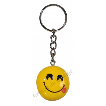 Porte clés émoticône gourmand