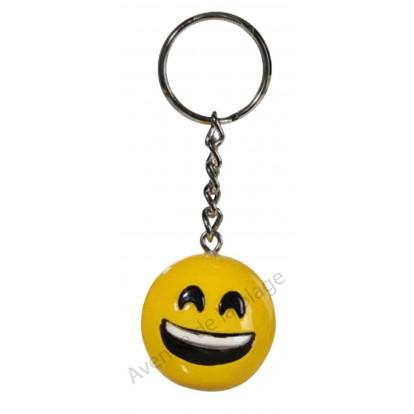 Porte clés émoticône heureux