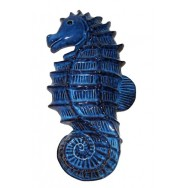 Hippocampe bleu 30 cm en céramique