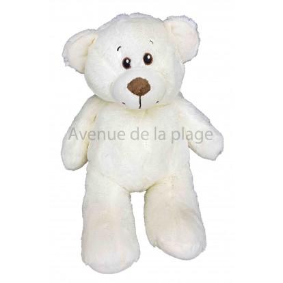Ours en peluche blanc 38 cm