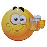 Pancarte Émoticône bière