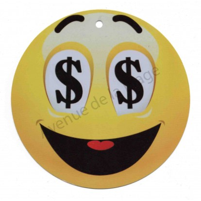 Pancarte Émoticône dollars