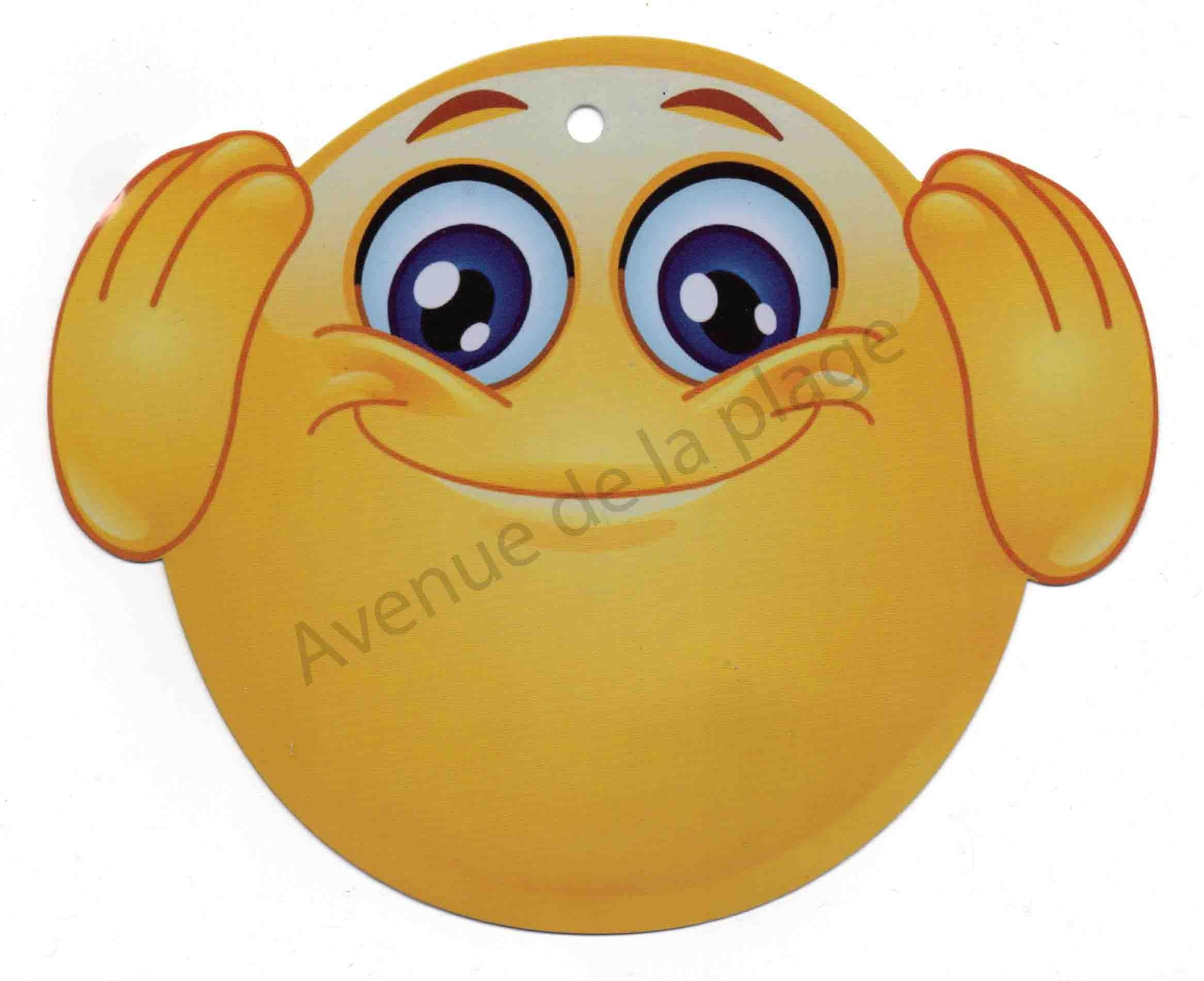 Pancarte Emoticone N Entend Pas Plaque De Porte Emoji Pas Chere