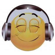 Pancarte Émoticône casque audio