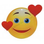 Pancarte Émoticône coeur