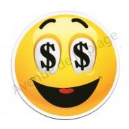 Magnet Émoticône dollars