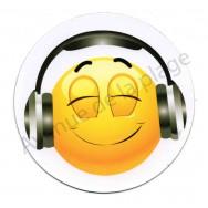 Magnet Émoticône casque audio