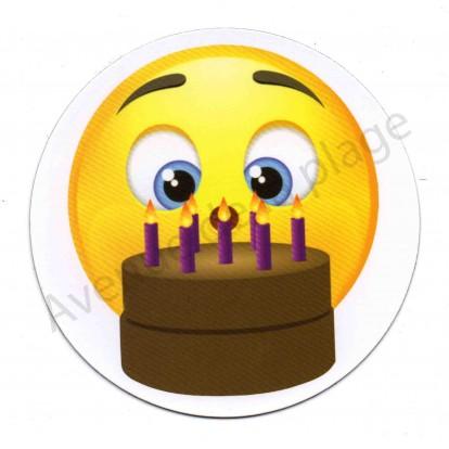 Magnet Émoticône anniversaire