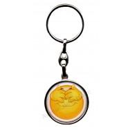 Porte clés métal émoticône ne voit rien