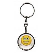 Porte clés métal émoticône heureux