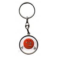 Porte clés métal émoticône furieux