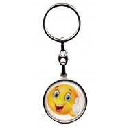 Porte clés métal émoticône c'est top