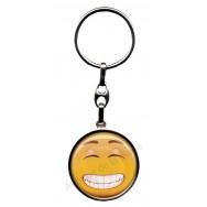 Porte clés métal émoticône grand sourire