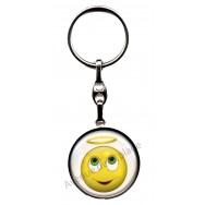 Porte clés métal émoticône ange