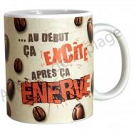 """Mug humoristique """"Les femmes c'est comme le café"""""""