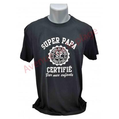 """T-shirt humoristique """"Super Papa Certifié"""""""
