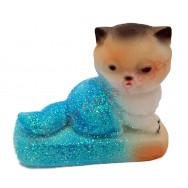 Statuette météo chaton assis