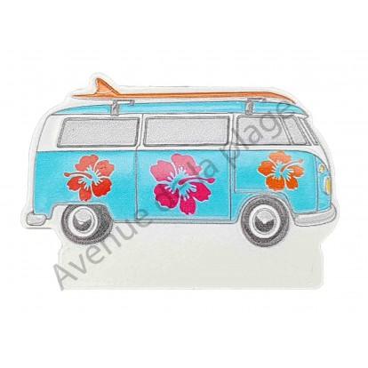 Magnet Van de surfeur Combi bleu.