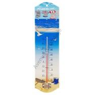 Thermomètre extérieur : la plage et les marinières