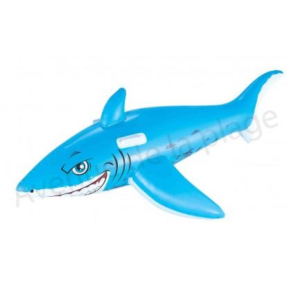 Requin bleu gonflable à chevaucher 183 cm