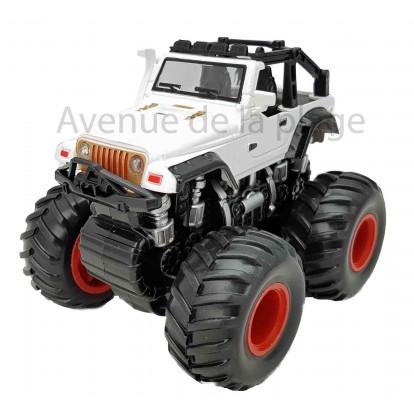 Voiture pour enfant Monster truck blanc, modèle A.