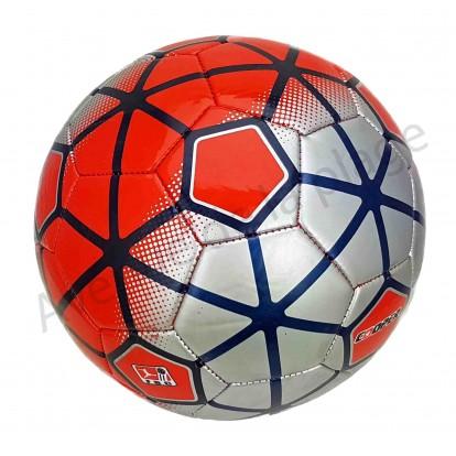 Ballon de football Cooper rouge et gris