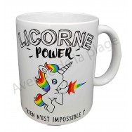 "Mug humoristique ""Licorne Power"""