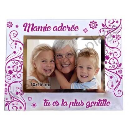 "Cadre photo ""Mamie adorée tu es la plus gentille"""