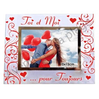 """Cadre photo en verre """"Toi et Moi pour toujours"""""""