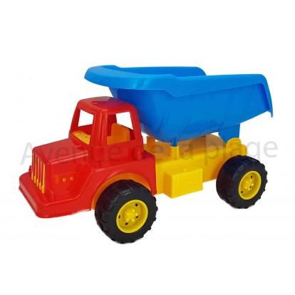 Camion benne de chantier 31 cm bleu.
