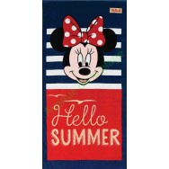 Serviette de plage Minnie Hello summer