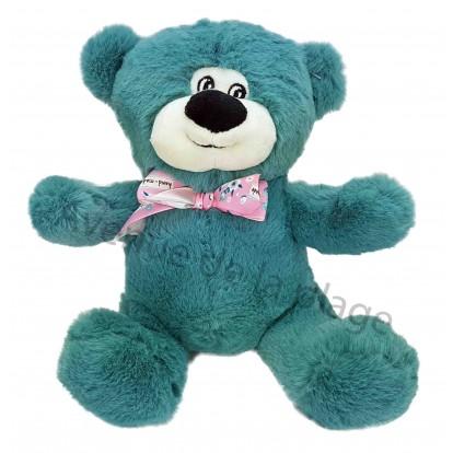 Ours en peluche coloré 21 cm bleu