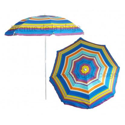 Parasol de plage anti UV multicolore 140 cm modèle B