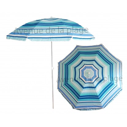 Parasol de plage anti UV multicolore 200 cm modèle A.