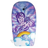 Bodyboard papillon et arc en ciel