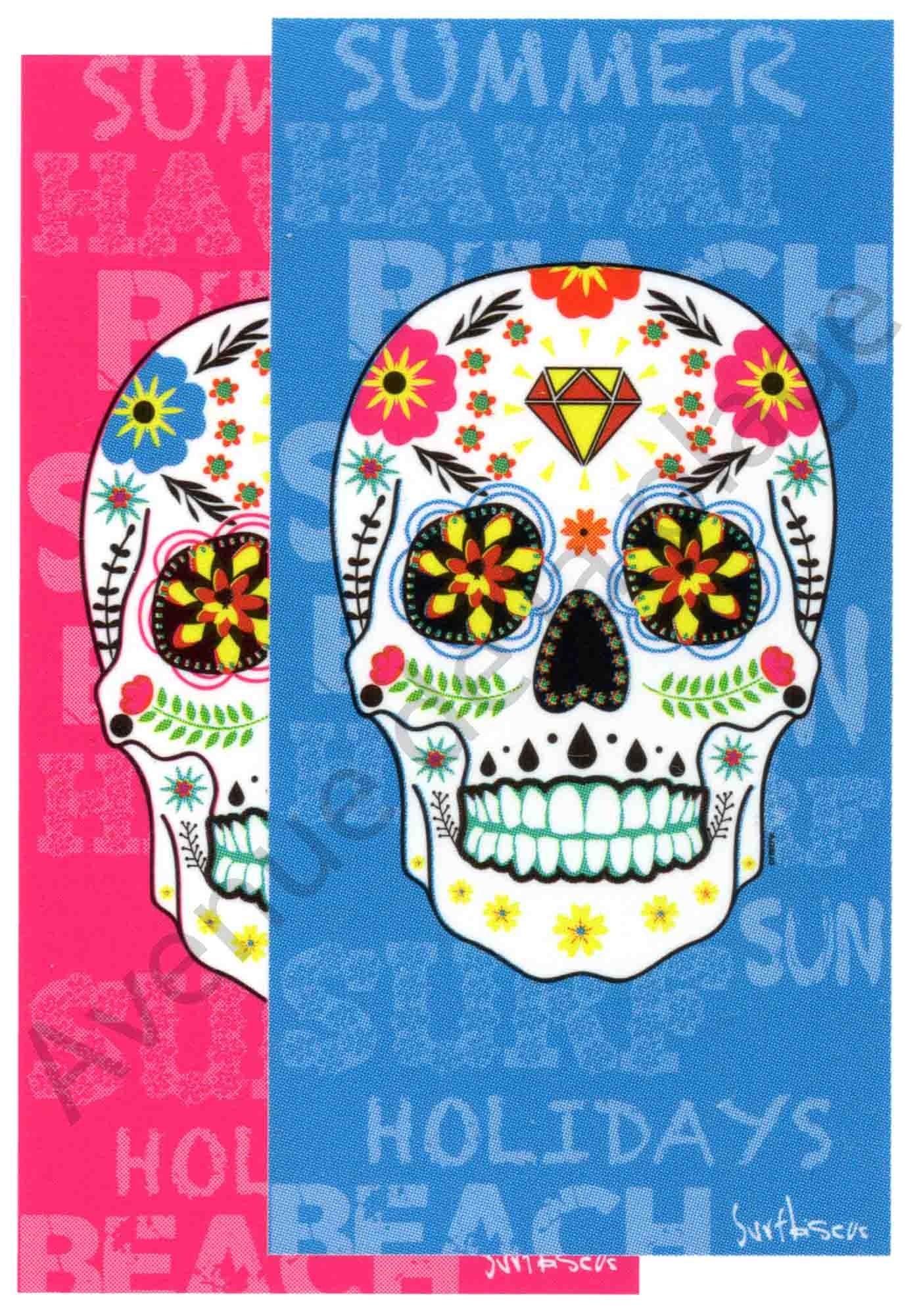 Serviette Plage Tete De Mort.Serviette De Plage Tete De Mort Mexicaine Drap De Bain Cavalera