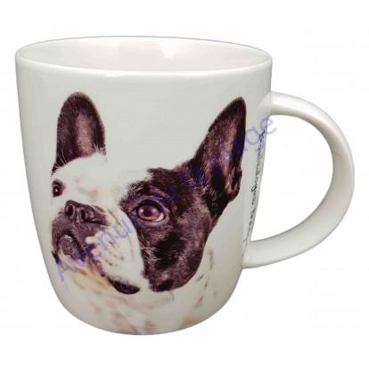 Mug chien Bouledogue Français noir et blanc