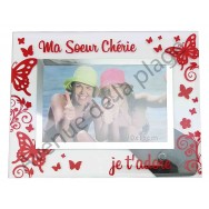 "Cadre photo ""Ma Soeur Chérie"""