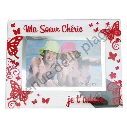 """Cadre photo """"Ma Soeur Chérieje t'adore"""""""