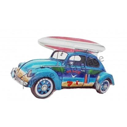 Magnet Voiture de surfeur Cox bleue.