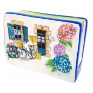 Porte éponge fleurs et vélo