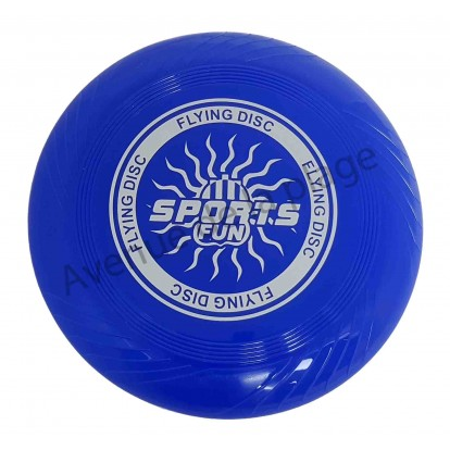 Disque volant Frisbee bleu.