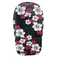 Bodyboard noir Fleurs d'hibiscus