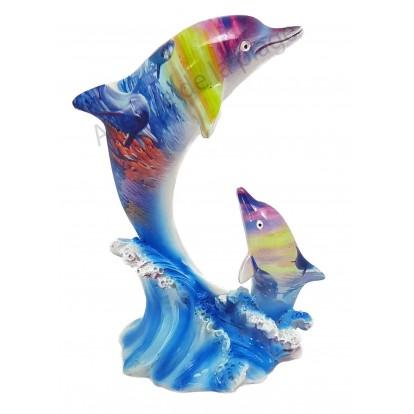 Statuette dauphin et son petit paysage marin B