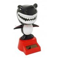 Figurine requin noir solaire dansant
