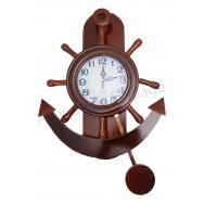 Pendule ancre de bateau et barre à roue avec balancier