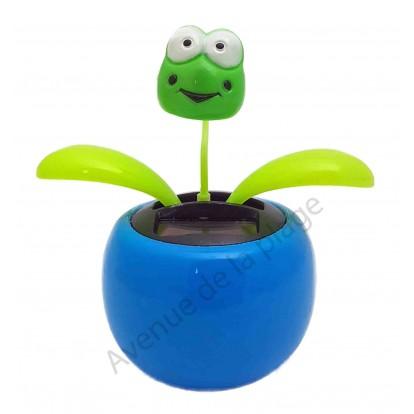 Plante solaire avec grenouille qui se balance B