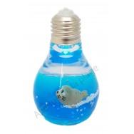 Phoque dans ampoule lumineuse