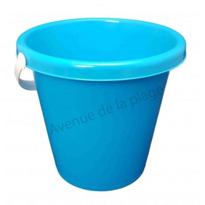 Seau de plage 22 cm bleu