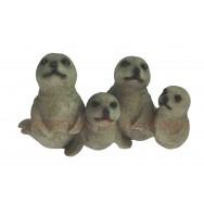 Statuette Famille de phoques